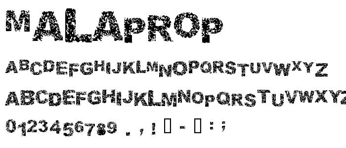 Malaprop font