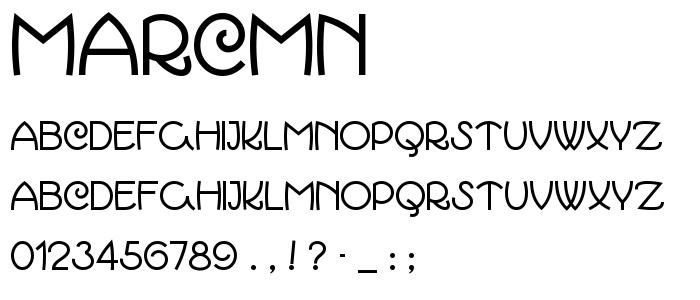 Marcmn font