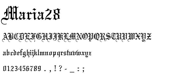 Maria28 font