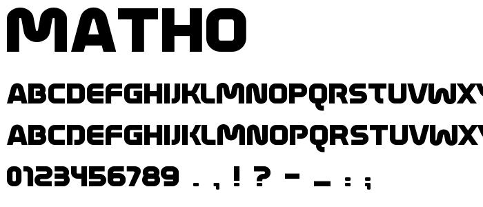 Matho font