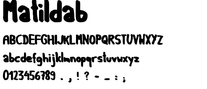 Matildab font