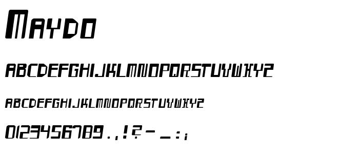 Maydo font