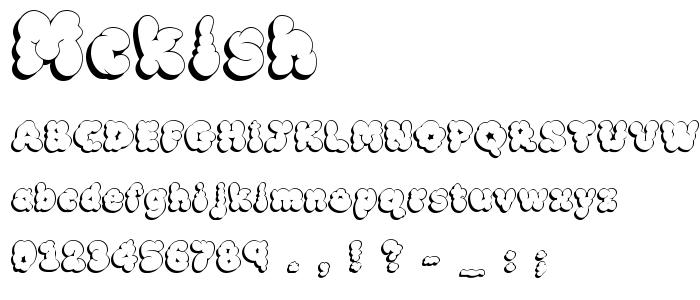 Mcklsh font