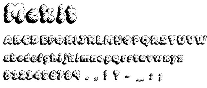 Mcklt font