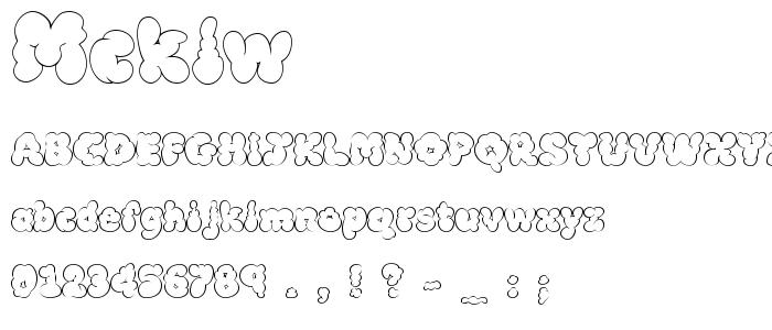Mcklw font