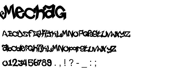Mechag font