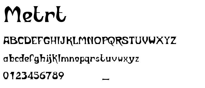 Metrt font