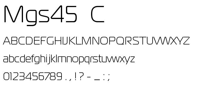 Mgs45  C font
