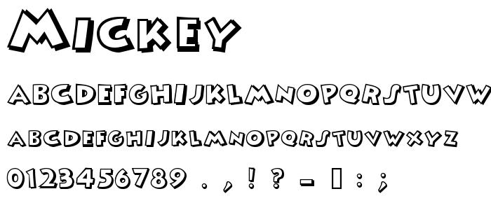 Mickey font