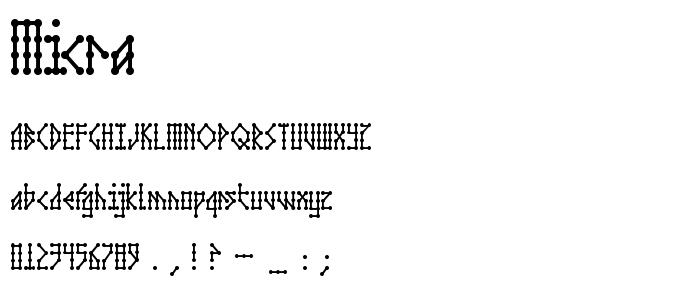 MICRA___.TTF font