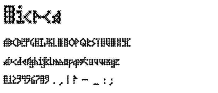 Micrca font
