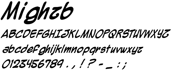Mighzb font