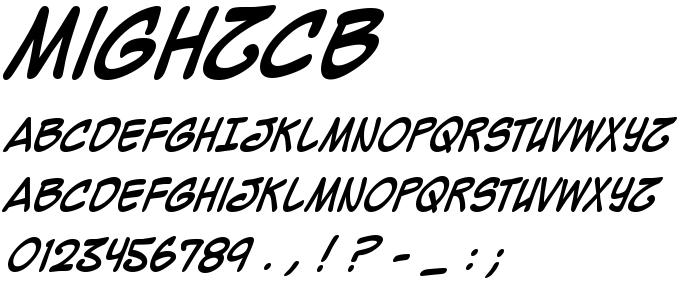Mighzcb font