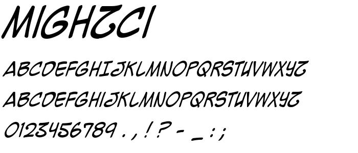 Mighzci font