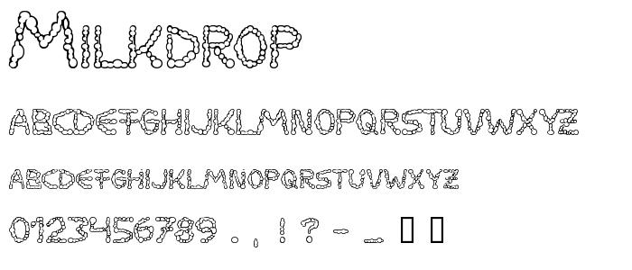 Milkdrop font