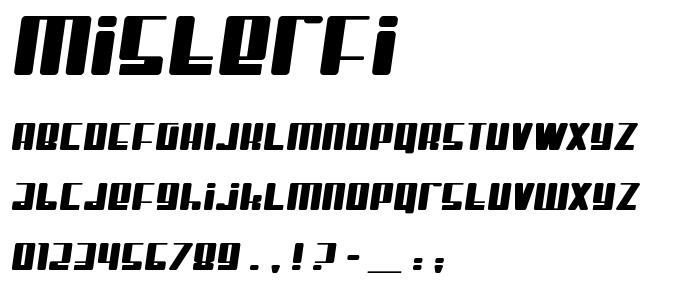 Misterfi font