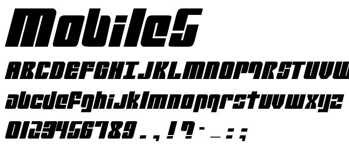 Mobile5 font