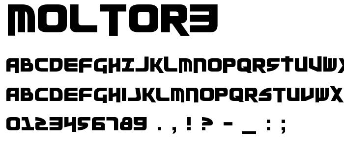 Moltor3 font
