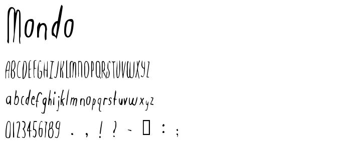 Mondo font