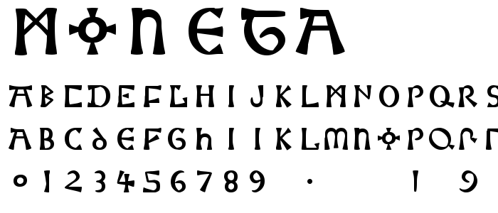 Moneta font