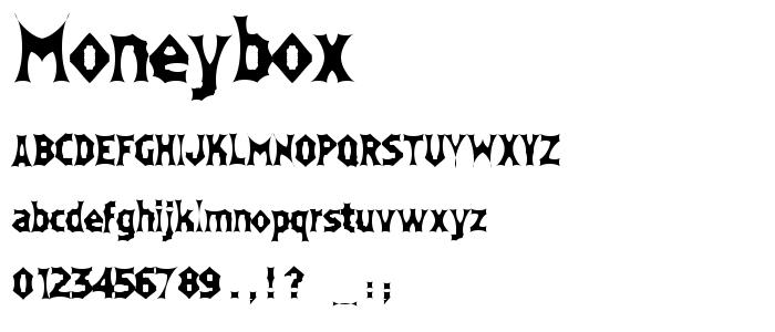 Moneybox font
