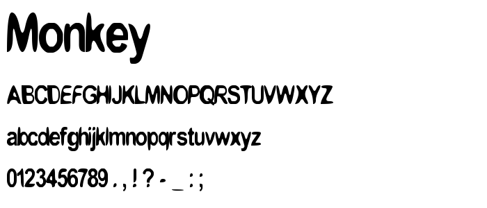 Monkey font