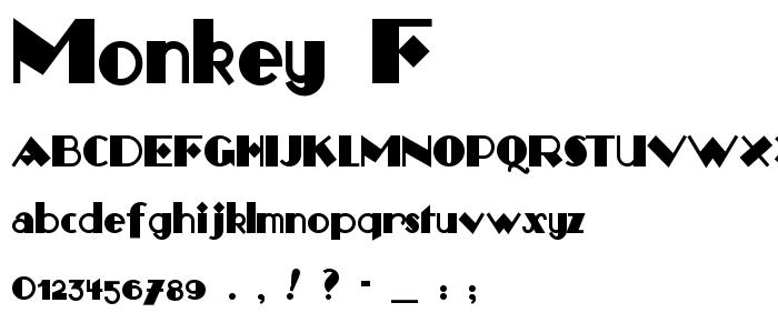 Monkey F font