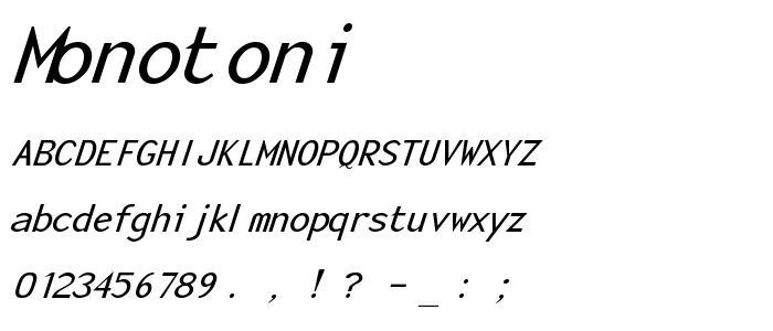 Monotoni font
