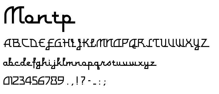 Montp font
