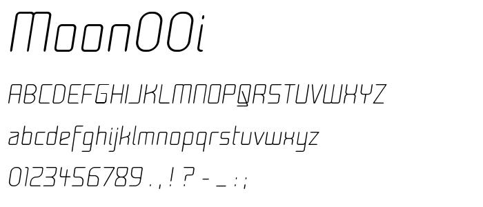 Moon00i font
