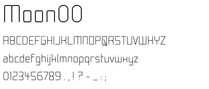 Moon00 font