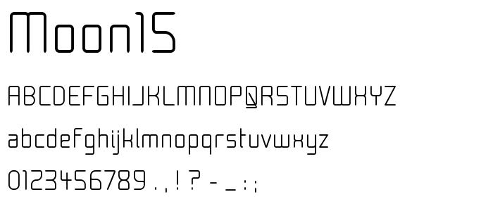 Moon15 font