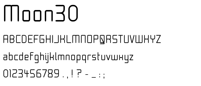 Moon30 font