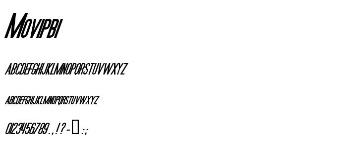 Movipbi font