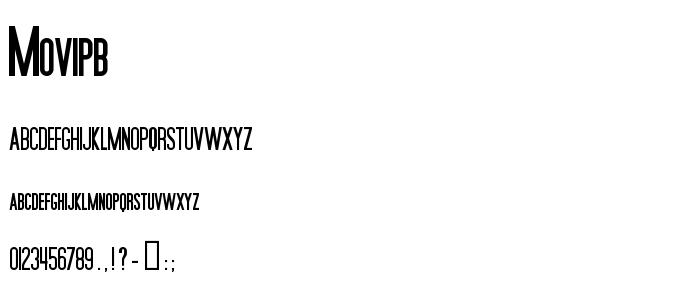Movipb font