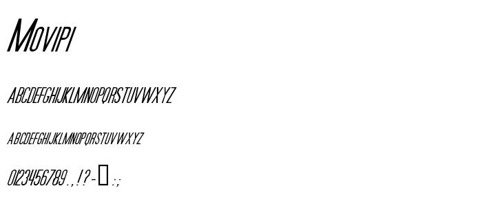 Movipi font