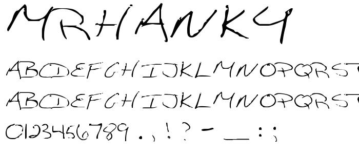 Mrhanky font