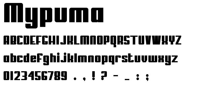 Mypuma font
