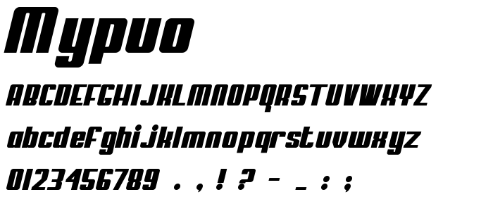 Mypuo font