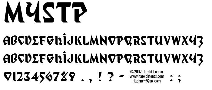 Mystp font