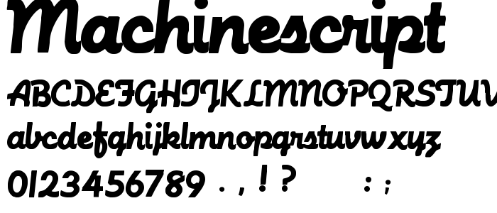 MachineScript.ttf font