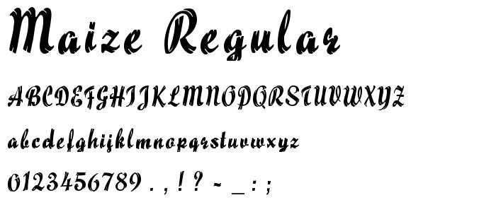 Maize Regular font