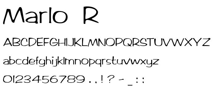Marlo  R font