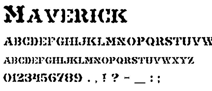 Maverick.ttf font