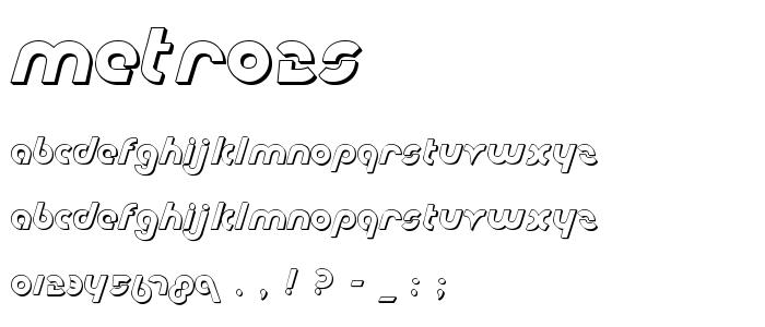 Metro2s font