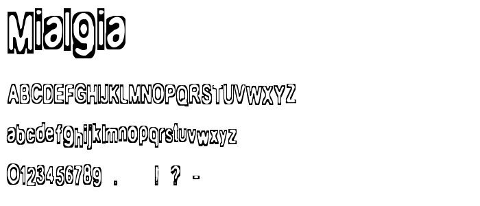 Mialgia font