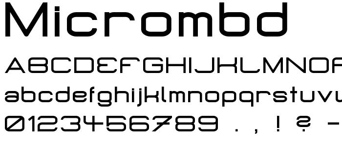 Micrombd font