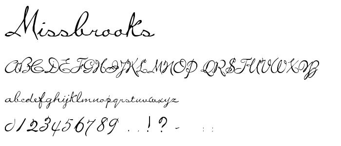 Missbrooks font