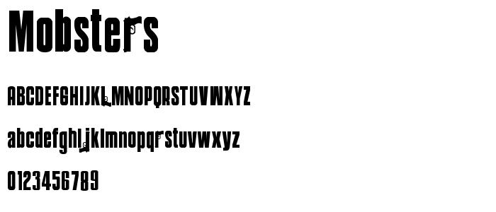 Mobsters font
