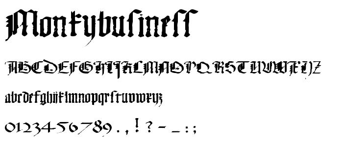 Monkybusiness font